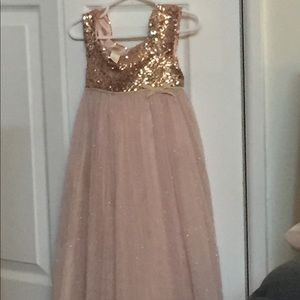 Sequins Pink Girl's Dress 👗
